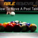 How To Move A Pool Table