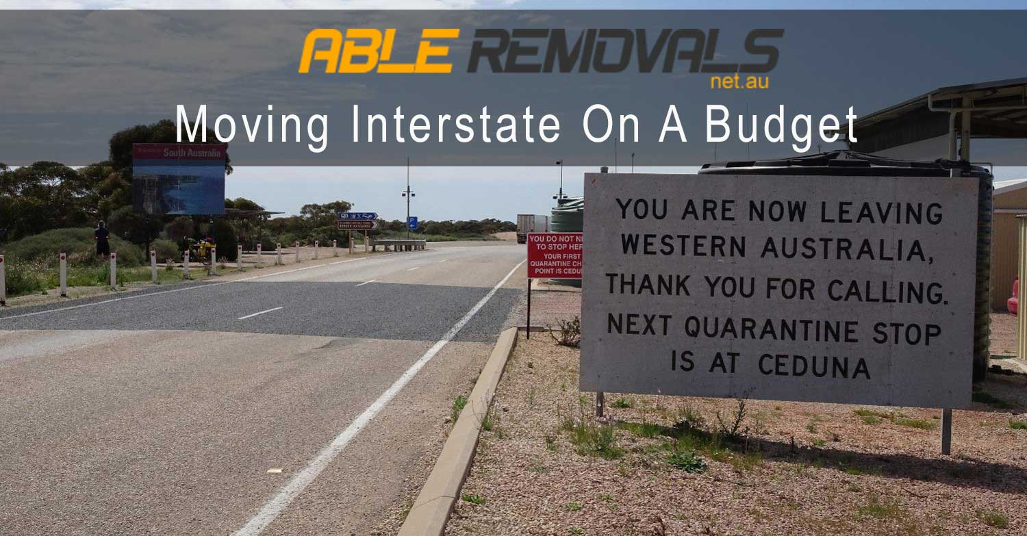 Moving Interstate On A Budget